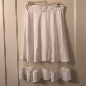 Lulus white shadow skirt